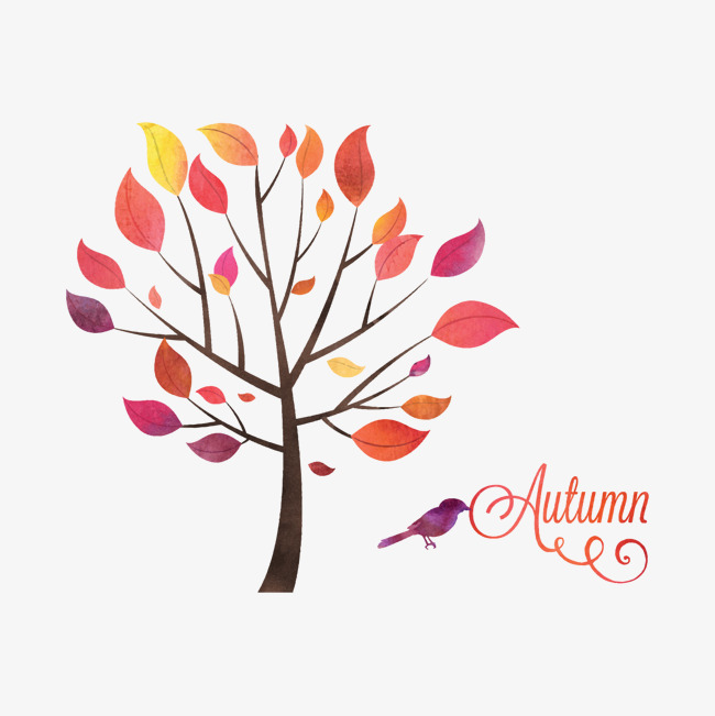 秋天卡通树元素【树叶装饰素材png高清】-90评价如何设计室内设计的好坏图片