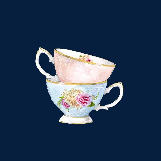 茶杯手绘下午茶