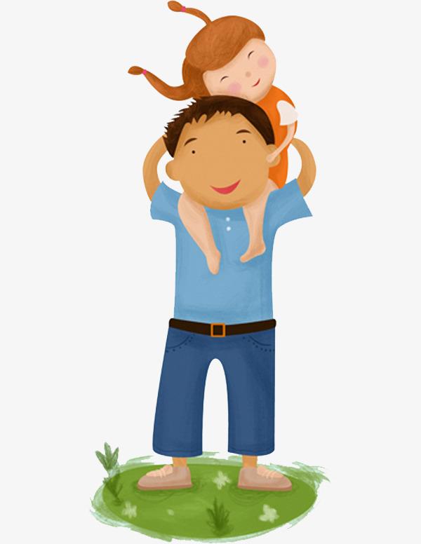 图片 > 【png】 父亲拖孩子  分类:手绘动漫 类目:其他 格式:png 体