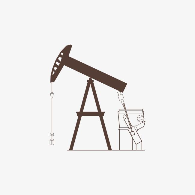 棕色的油井设备图片