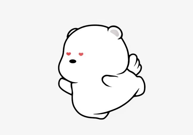 手绘简笔画萌芽熊
