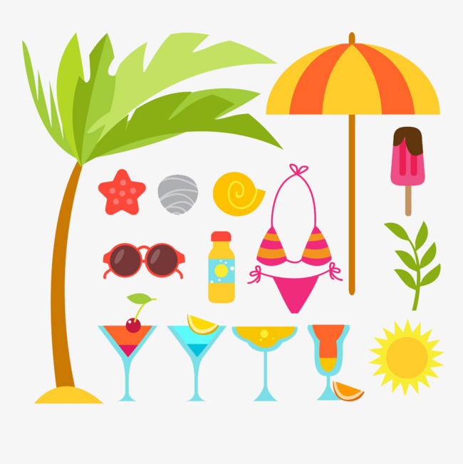 90设计提供高清png手绘动漫素材免费下载,本次夏天饮料作品为设计师我