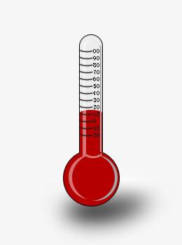 卡通线条温度计图片