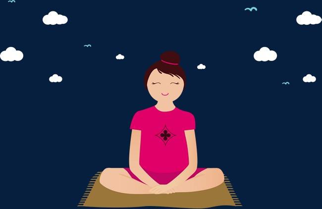 图片 > 【png】 瑜伽静坐人物素材  分类:手绘动漫 类目:其他 格式:pn