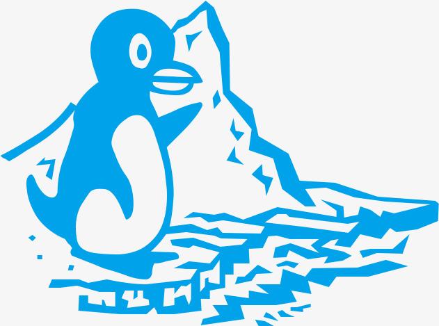 手绘的企鹅