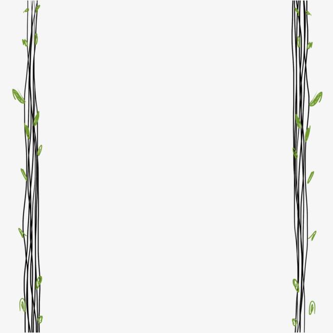 手绘小清新简洁树藤边框