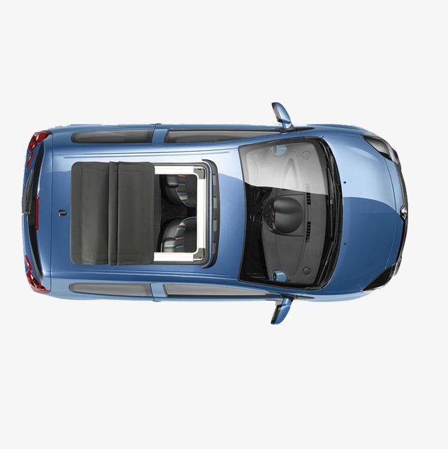 车俯视图蓝色轿车素材图片免费下载 高清png 千库网 图片编号8082496