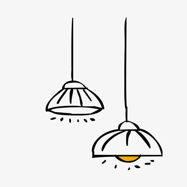 卡通手绘 灯 吊灯