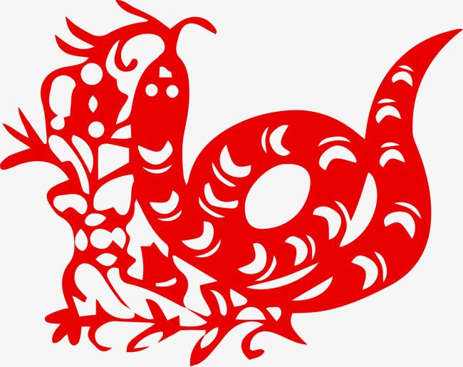 中国风剪纸十二生肖蛇