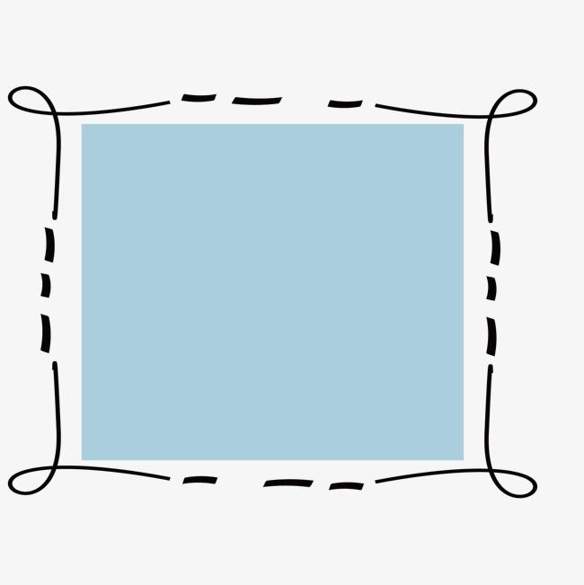 卡通手绘花纹边框方框