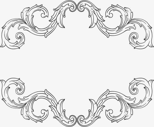 黑色_黑色简约海浪边框纹理素材-90设计