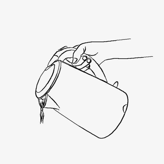 手绘线稿水壶