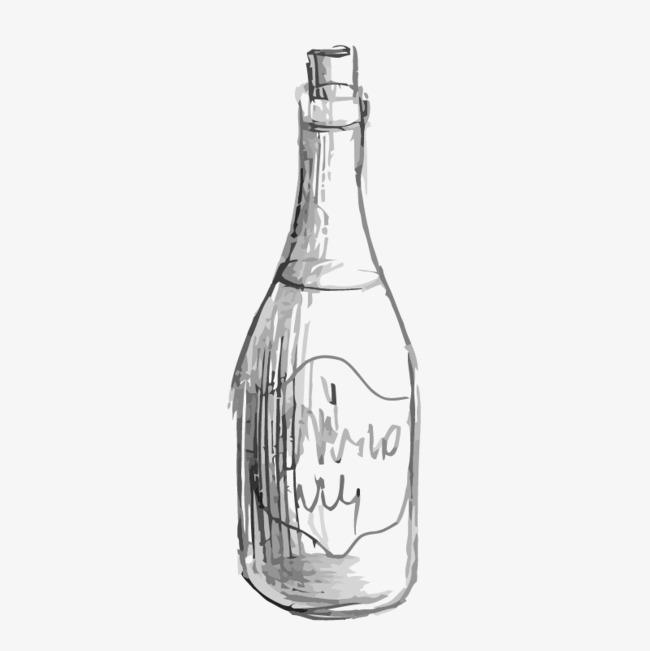 手绘的瓶子