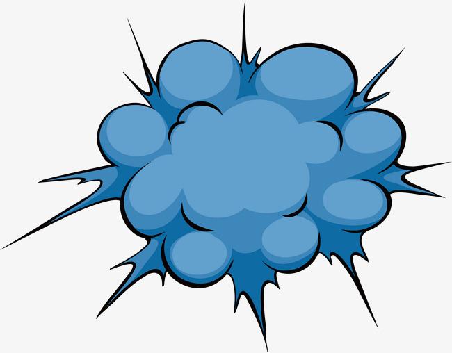 蓝色烟雾爆炸贴