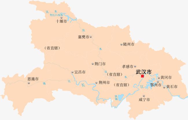 湖北省地图图片