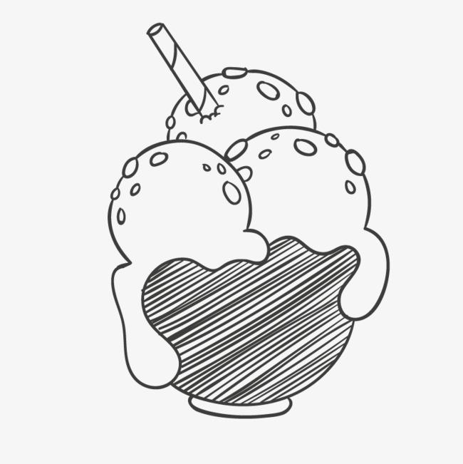 手绘的冰淇淋