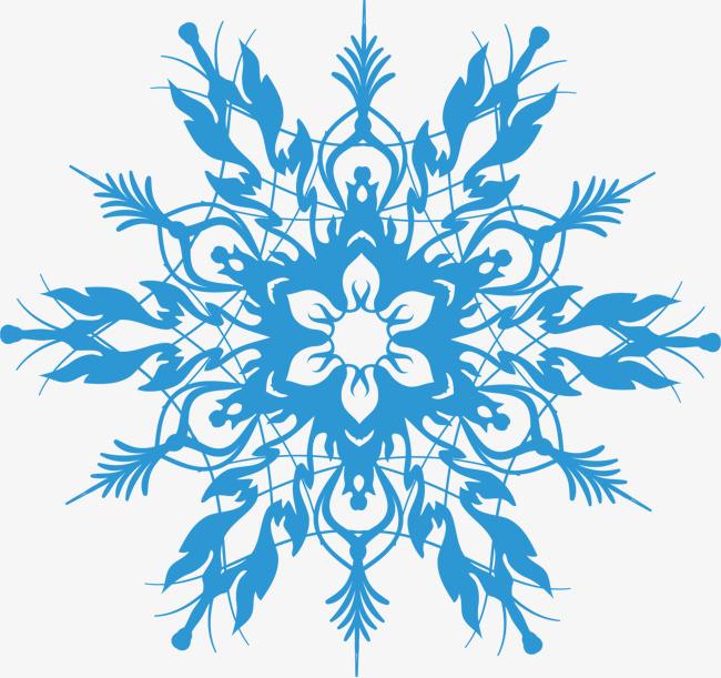 花纹底纹 雪花 装饰图案 淡蓝色