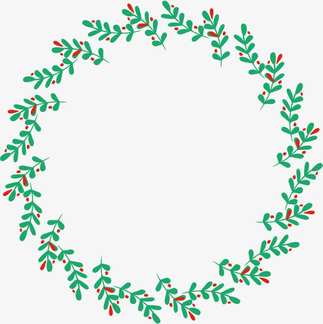 绿叶花环矢量图