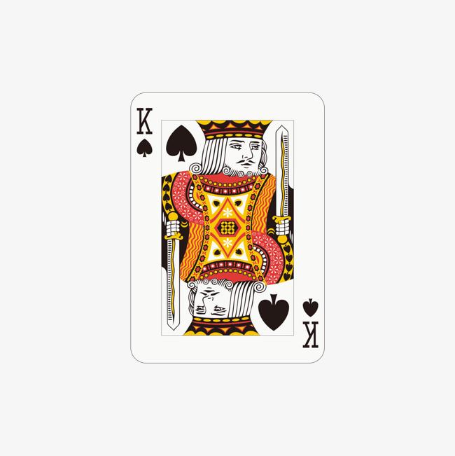 黑桃扑克牌k