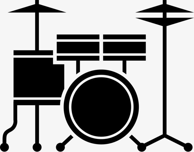 卡通手绘 架子鼓 音乐