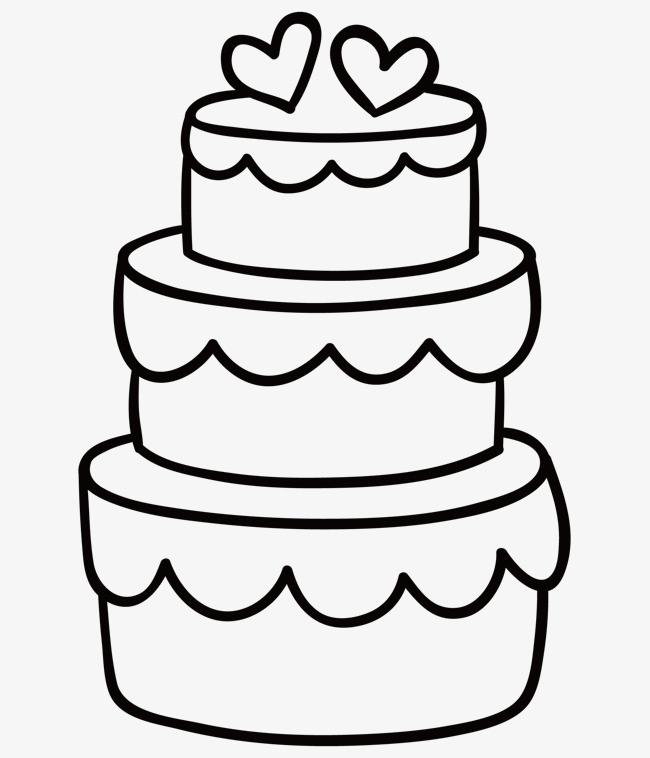 矢量_婚礼蛋糕简笔画素材-90设计