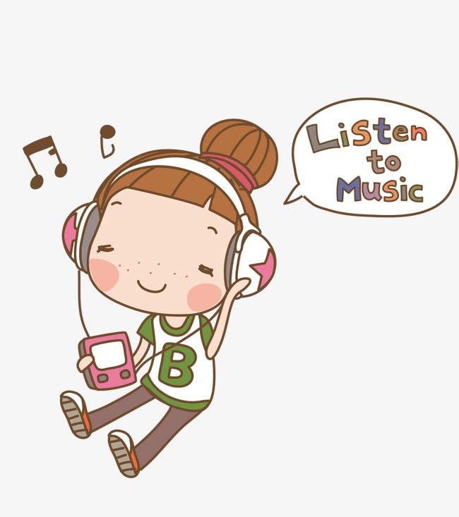 听女孩的可爱音乐古风素材图片免费下载_矢量高清女生动漫图片男装图片