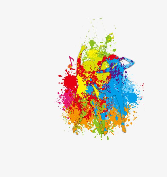 跳舞 舞蹈 彩绘 喷绘 涂鸦 装饰图案png素材-90设计