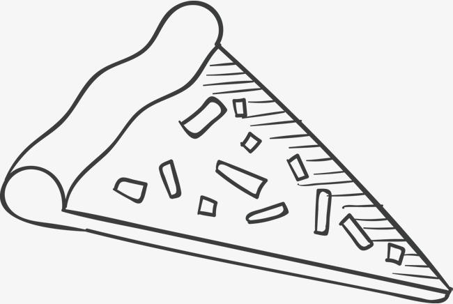 手绘披萨矢量披萨点心食物简笔画手绘插图eps蛋糕简笔画