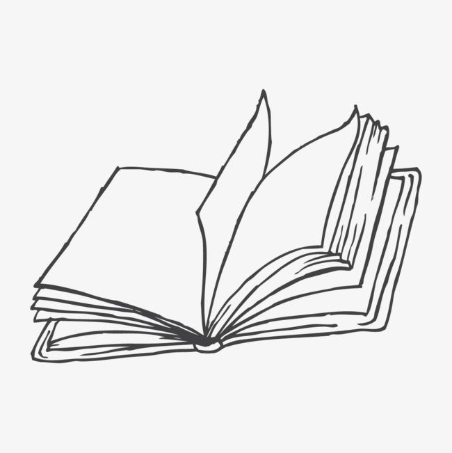卡通翻開的書圖片