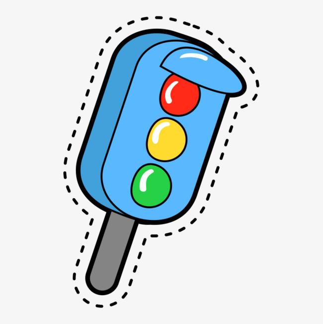 手绘 手绘画红绿灯 png素材             此素材是90设计网官方设计