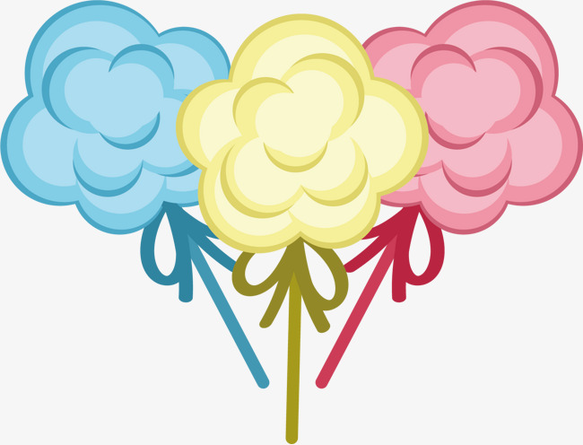 卡通图案 棉花糖 糖果色素材图片免费下载_高清psd_千