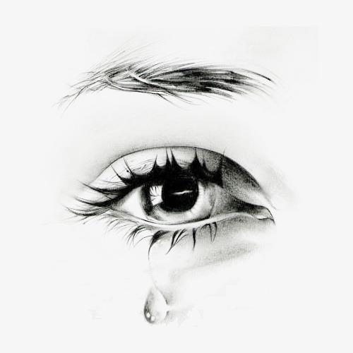 动漫女生眼睛哭泣手绘