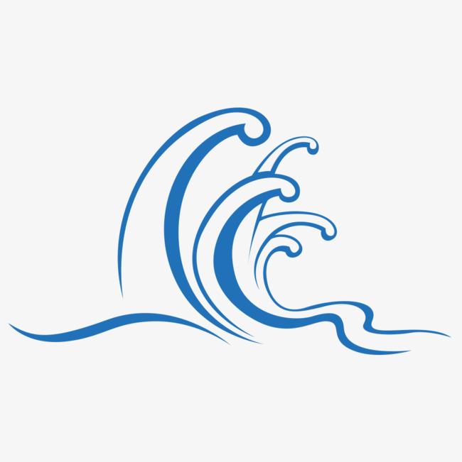 图片 边框纹理 > 【png】 简约手绘风格海浪素材