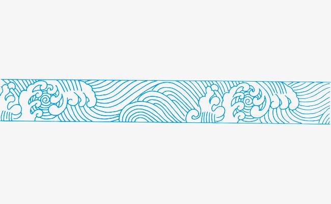 波浪分割线_手绘线条浪花纹路素材-90设计