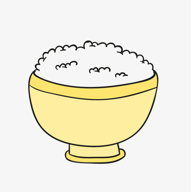 手绘的米饭图片