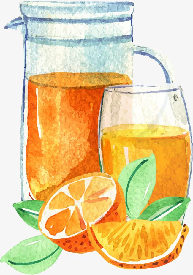 矢量手绘柠檬茶
