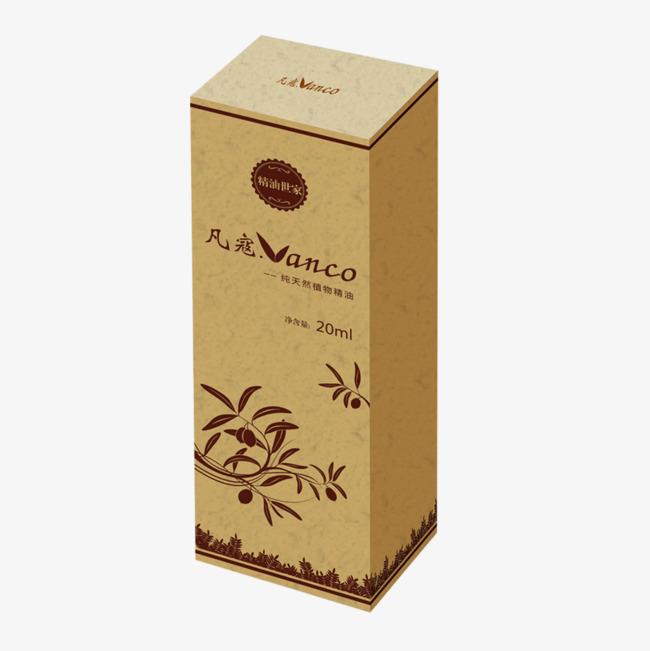 黄色花化妆品长方形盒子