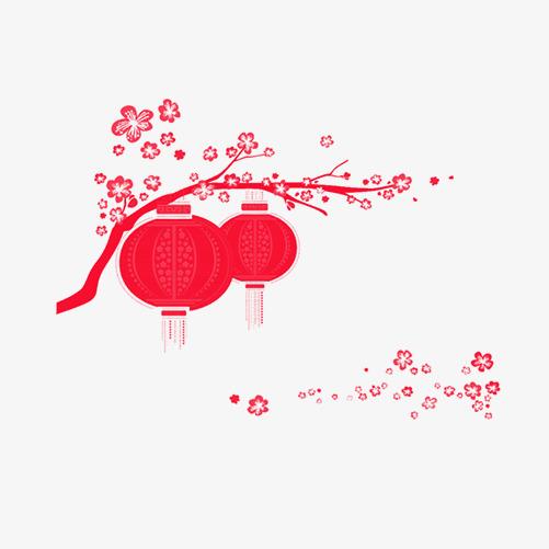 红色灯笼装饰图案png素材-90设计