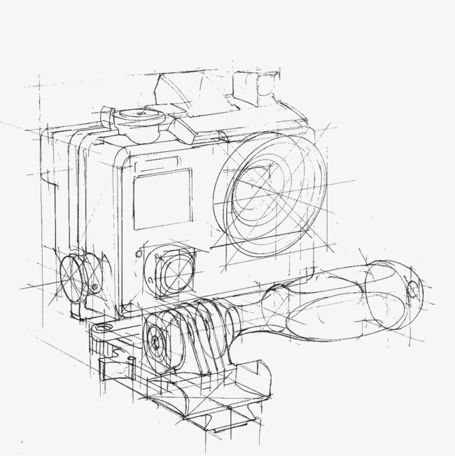 手绘工业设计透视图草稿