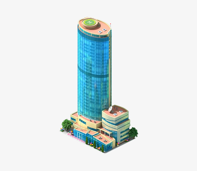 立体高耸楼房建筑