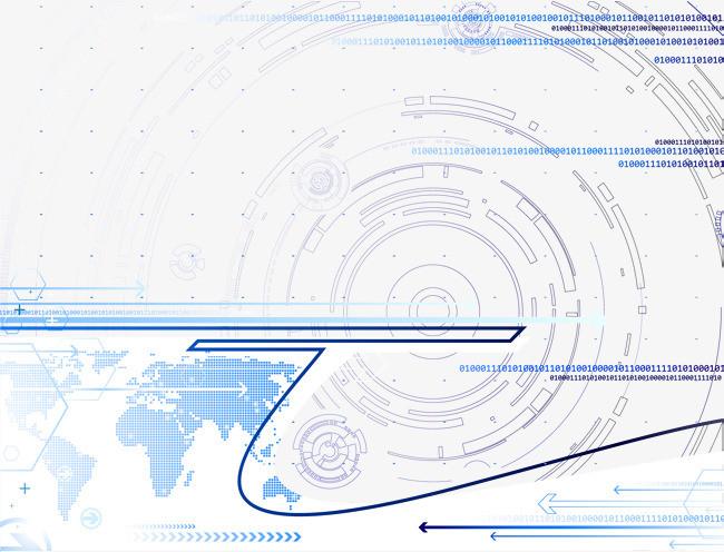 蓝色科幻圆圈纹理边框纹理