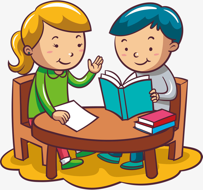 看书小朋友手绘q版