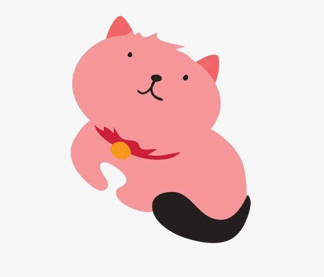 本次粉色的猫咪作品为设计师微尘凌乱小脚丫创作,格式为png,编号为