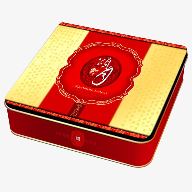 红色月饼长方形盒子