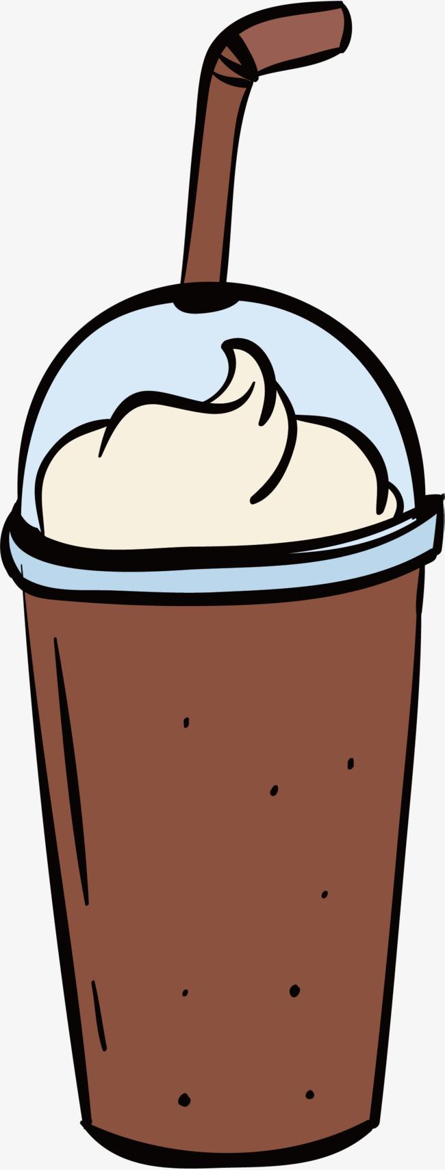 手绘风雪顶咖啡