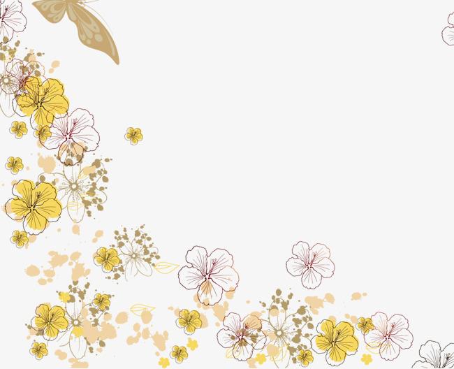 卡通手绘唯美花边框素材图片免费下载 高清装饰图案psd 千库网 图片编号839156图片