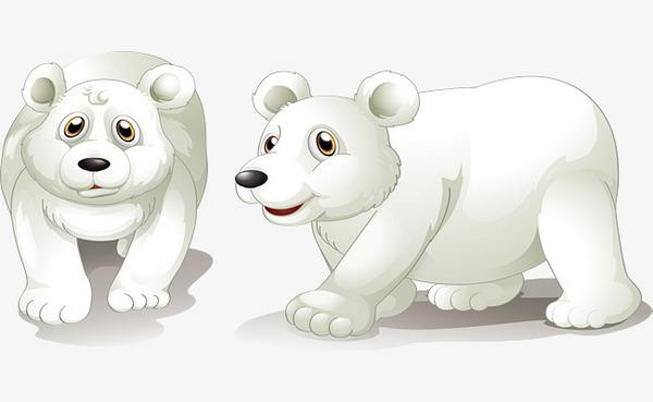可爱的北极熊png素材-90设计