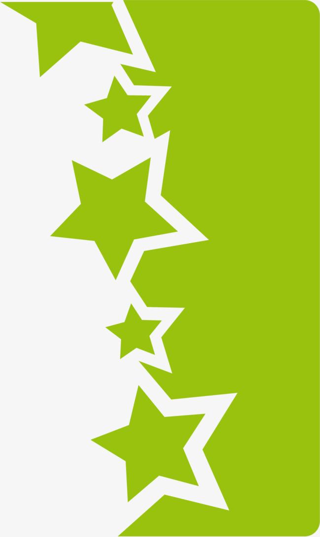 绿色不规则形状星星图案图片