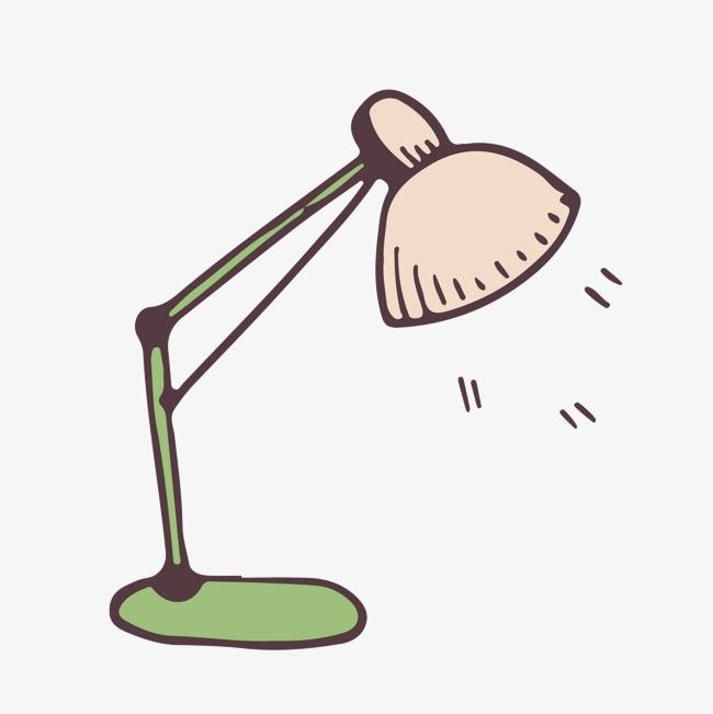 手绘卡通_手绘台灯png素材-90设计