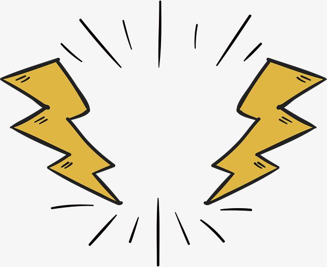 手绘闪电标题框